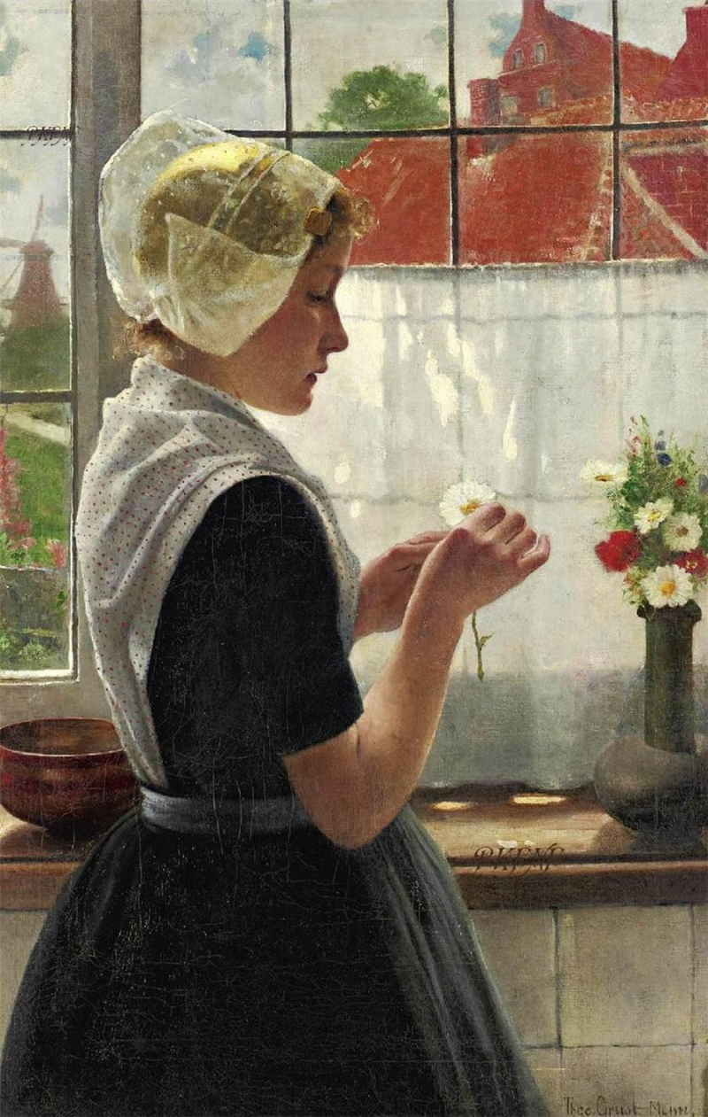 Theodor Grust Daydreaming by the window