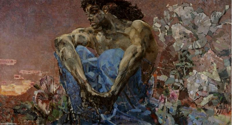 Демон сидящий Михаил Врубель