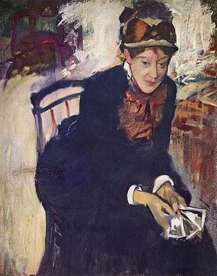 Edgar Degas (French artist, 1834-1917) Mary Cassatt With Cards 1888
