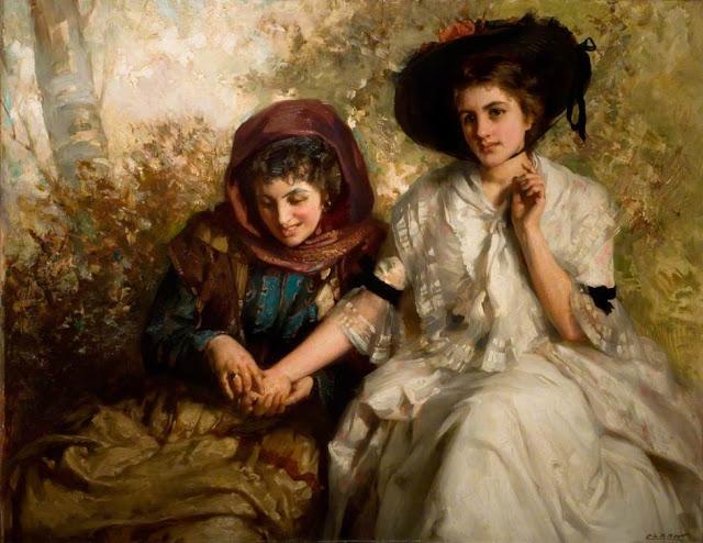 James Clark (British artist, 1858–1943) The Fortune Teller