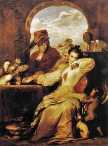 David White (Scottish artist, 1785-1841)  Josephine and the Fortune Teller