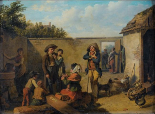 """""""The Fortune-Teller"""" (n.d.) by French artist Martin Drolling (1752-1817)"""