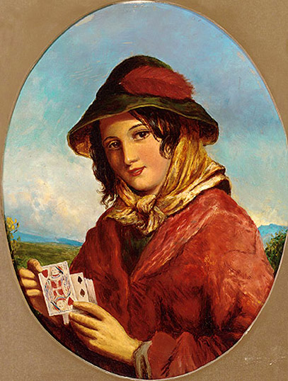 Гадалка с картами. Неизвестный английский художник