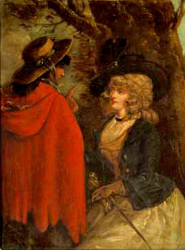 Цыганка и леди. Неизвестный английский живописец
