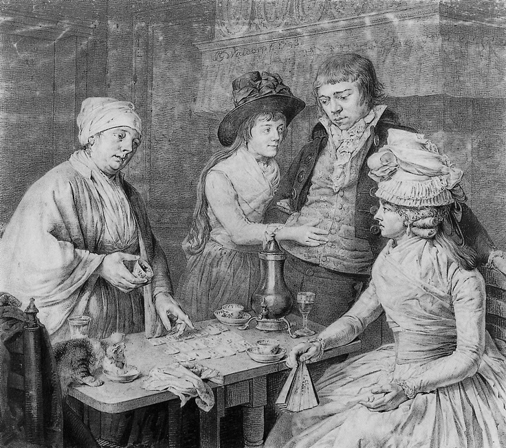 Jan Gerard Waldorp Visit to the Fortune Teller, 1790s.