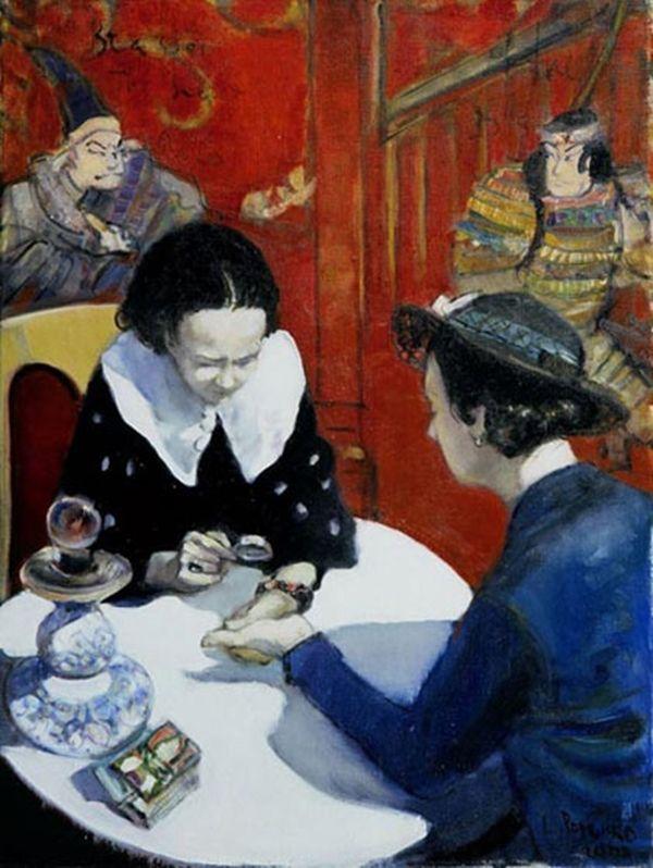 Lusia Popenko Fortune Teller 80 x 60 sm, oil, canvas, 2002