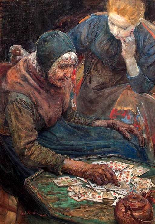 Paul Rink La cartomancienne, 1898