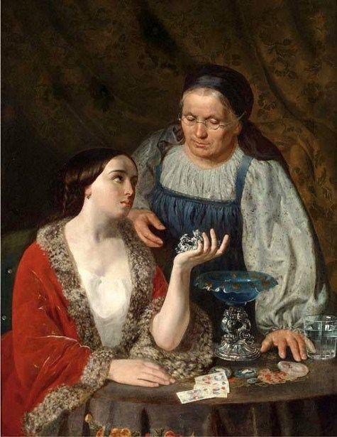 The Fortune Teller by Frank Duveneck