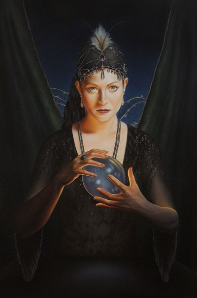 """""""The Fortune Teller"""" oil on canvas, by Jared Joslin"""