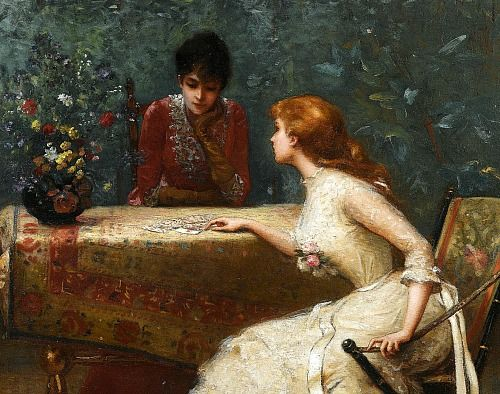 Edouard Bisson Asking the Cards, 1889