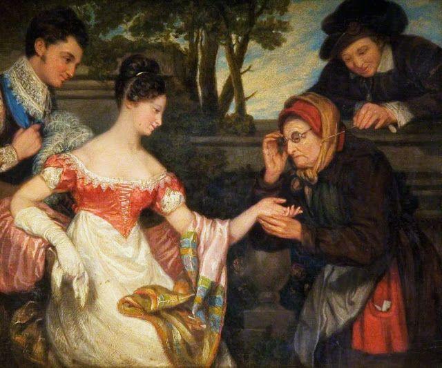 Edward Villiers Rippingille (British artist, 1798–1859), The Fortune Teller