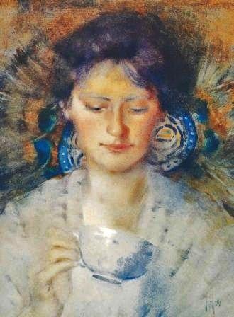 Frances Hodgkins (New Zealand artist, 1869-1947) Fortune Teller 1896