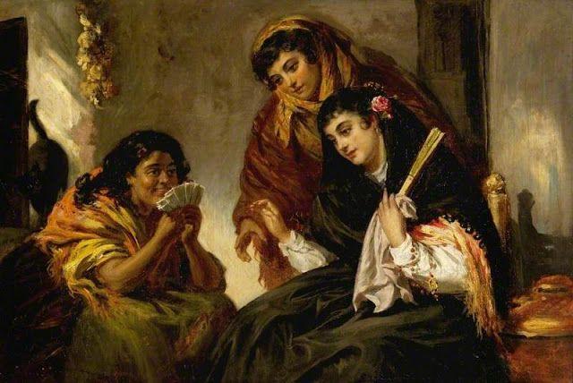 "Jean Carolus, Belgian School, 1814 - 1897 ""The Fortune - Teller."
