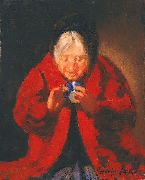 Telling Fortunes, George Luks, Fauvist, 1914