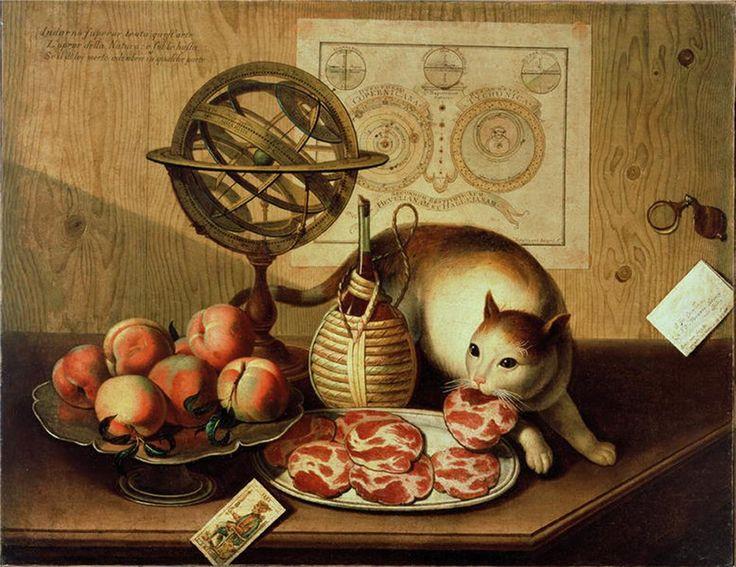 Sebastiano Lazzari (1730-1791) Still Life with cat