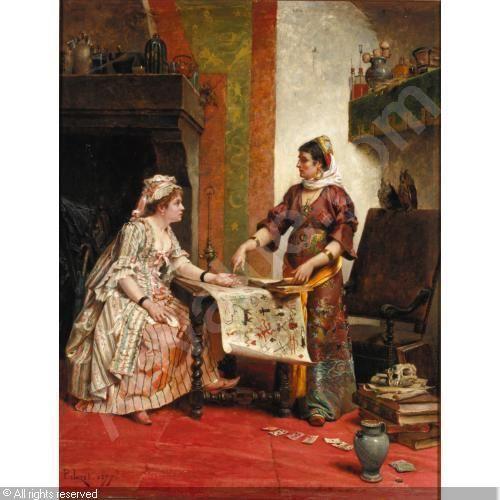The fortune teller. Paul-Léon Jazet