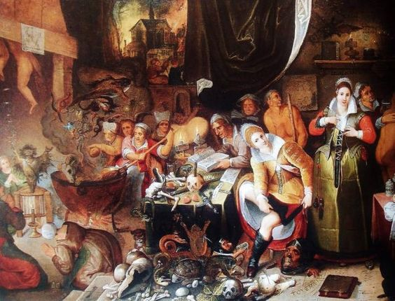 Scene of Witchcraft by the Belgian artist Hieronymus Francken the Younger