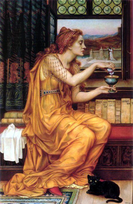 Evelyn de Morgan ~ 'The Love Potion', 1903