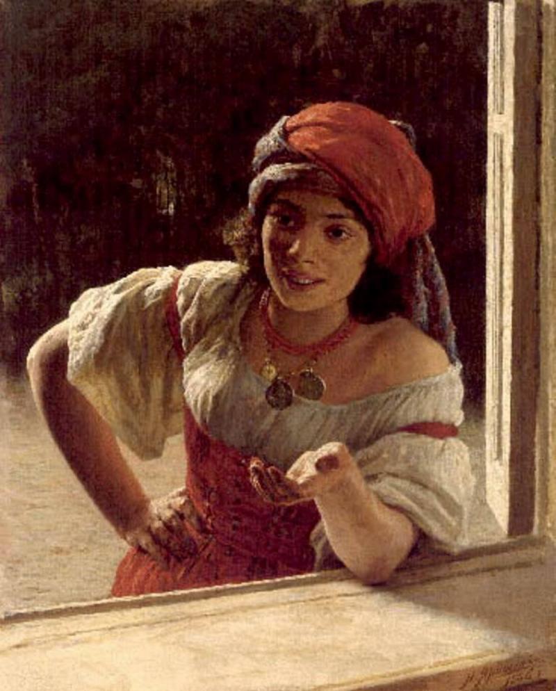 Николай Ярошенко Gypsy Woman