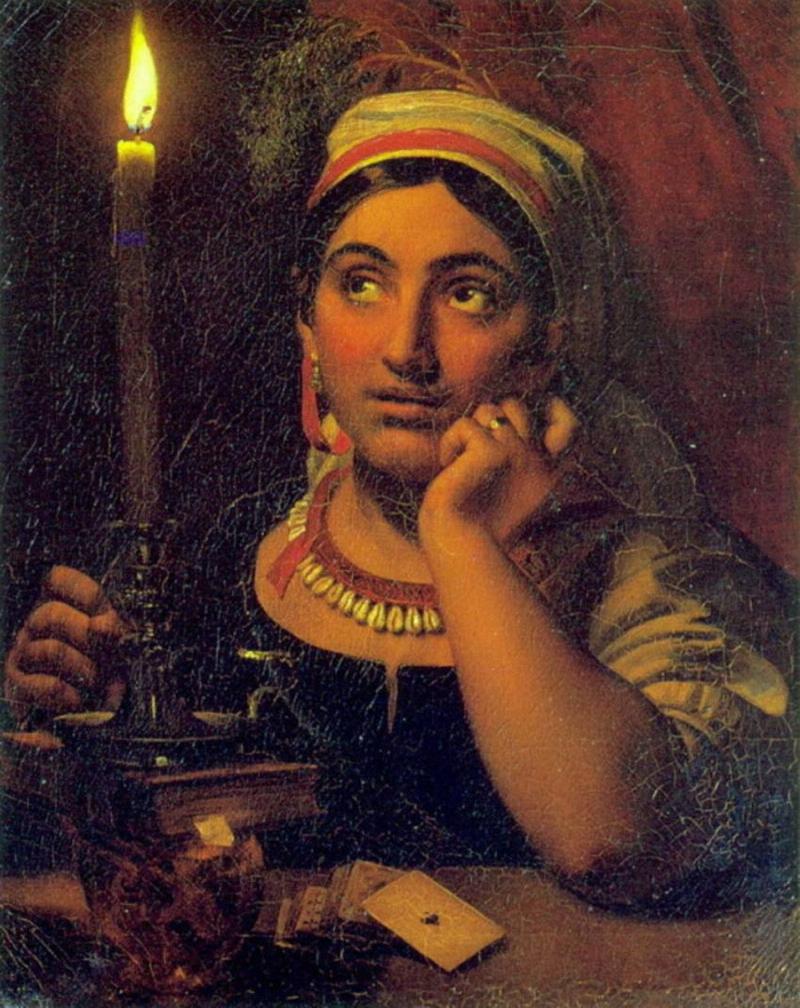 Орест Кипренский Гадалка со свечей