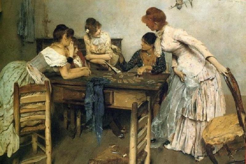 Ettore Tito La Chiromante 1886