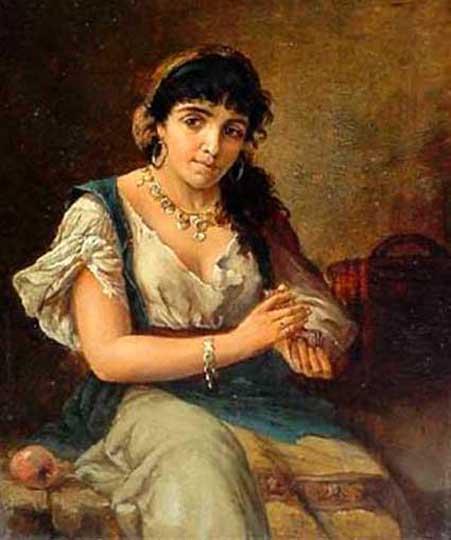 Farilla H. Цыганская девушка с картами