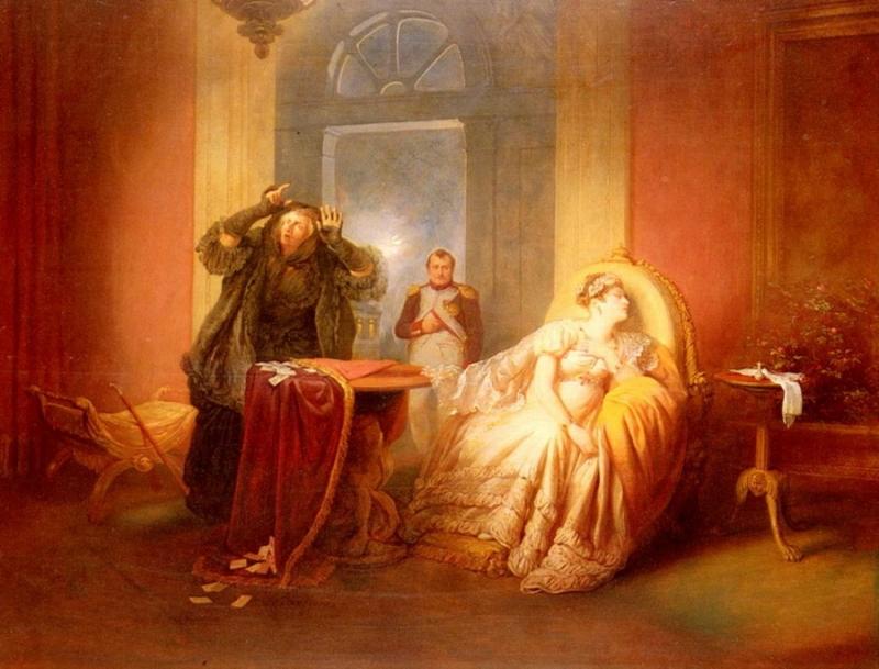 Josef Danhauser Наполеон и Жозефина у гадалки
