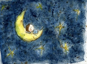 Девочка  - Луна