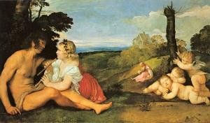 Таро в изобразительном  искусстве: Тициан Вечеллио «Три возраста мужчины»